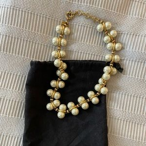 J. Crew Faux Pearl/Gold Statement Necklace